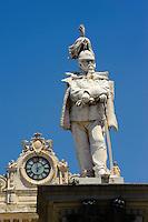 Denkmal Vittorio Emanuele II auf  Piazza d' Italia in Sassari,  Provinz Sassari, Nord - Sardinien, Italien