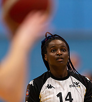 Orieoma Chukwu-Etu of Newcastle Eagles during the WBBL Championship match between Sevenoaks Suns and Newcastle Eagles at Surrey Sports Park, Guildford, England on 20 March 2021. Photo by Liam McAvoy