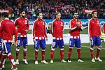 Atletico de Madrid´s Jesus Gamez, Saul Niguez, Fernando Torres, Raul Garcia and Mario Suarez during 2014-15 `Copa del Rey´ Spanish Cup match at Vicente Calderon stadium in Madrid, Spain. January 07, 2015. (ALTERPHOTOS/Victor Blanco)