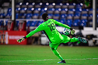 LAKE BUENA VISTA, FL - JULY 20: Andre Blake #18 of the Philadelphia Union during a game between Orlando City SC and Philadelphia Union at Wide World of Sports on July 20, 2020 in Lake Buena Vista, Florida.