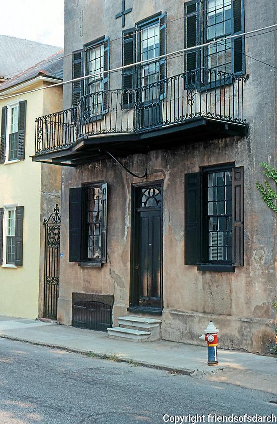 Charleston: Mid-18th Century House, Tradd St.  Photo '78.