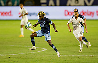 CARSON, CA - OCTOBER 18: Leonard Owusu #17 of the Vancouver Whitecaps moves with the ball during a game between Vancouver Whitecaps and Los Angeles Galaxy at Dignity Heath Sports Park on October 18, 2020 in Carson, California.