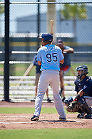Tampa Bay Rays Carlos Vargas (95) during a Minor League Extended Spring Training game against the Atlanta Braves on April 15, 2019 at CoolToday Park Training Complex in North Port, Florida.  (Mike Janes/Four Seam Images)
