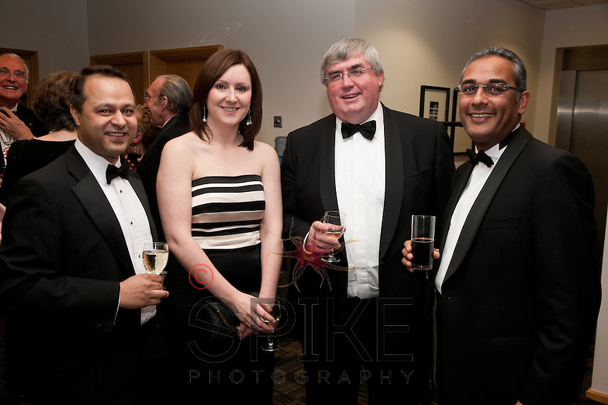 Pictured from left are Harshad Bharakhada, Kari Mellon, Ian Johnson and Mustafa Abdulhusein