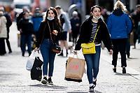 2021 04 12 Non-essentail Shops re-open in Swansea, Wales, UK