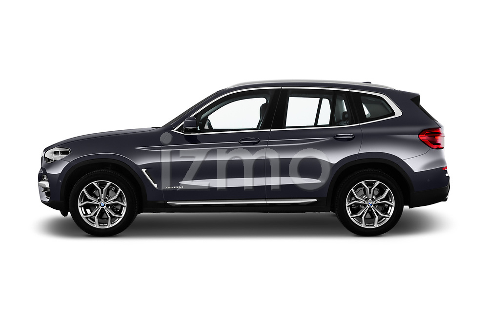 Car Driver side profile view of a 2018 BMW X3 xLine-4wd 5 Door SUV Side View