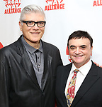 Frank (Fraver) Verlizzo and Lawrence Leritz attends the 2019 Off Broadway Alliance Awards Reception at Sardi's on June 18, 2019 in New York City.