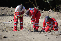 Pictured: Hellenic Rescue volunteers work at the second site in Kos, Greece. Sunday 16 October 2016<br /> <br /> Re: Police teams led by South Yorkshire Police are searching for missing toddler Ben Needham on the Greek island of Kos.<br /> Ben, from Sheffield, was 21 months old when he disappeared on 24 July 1991 during a family holiday.<br /> Digging has begun at a new site after a fresh line of inquiry suggested he could have been crushed by a digger.