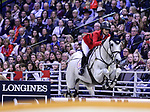 OMAHA, NEBRASKA - MAR 31: Jamie Barge rides Luebbo during the FEI World Cup Jumping Final II at the CenturyLink Center on March 31, 2017 in Omaha, Nebraska. (Photo by Taylor Pence/Eclipse Sportswire/Getty Images)