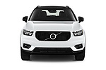 Car photography straight front view of a 2021 Volvo XC40 R-Design 5 Door SUV Front View