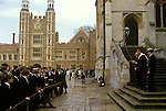 eton college,Absence called, Roll call, Beak, Headmaster,   eton school,  eton, Berkshire, British society, upper class, education, teen, teenagers, teenage, 4th June celebrations,Founders day, Parents day,England, English, Britain, British, UK, in, a,on, Social History, Archival, Archive Stock,   annual event, 1987, 1980s, 80s,
