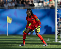 GRENOBLE, FRANCE - JUNE 22: Chiamaka Nnadozie #16 of the Nigerian National Team during a game between Panama and Guyana at Stade des Alpes on June 22, 2019 in Grenoble, France.