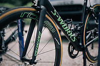 Marcel Kittel's (DEU/QuickStep Floors) customised 'green machne' / Specialized S-Works <br /> <br /> 1st restday at Team Quickstep Floors (in the Dordogne)<br /> <br /> 104th Tour de France 2017<br /> first restday