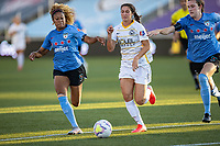 HERRIMAN, UT - JULY 12: Arielle Ship #17 of Utah Royals FC plays for the ball against Casey Short #6 of Chicago Red Stars during a game between Utah Royals FC and Chicago Red Stars at Zions Bank Stadium on July 12, 2020 in Herriman, Utah.