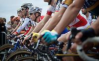 always low positioned at the start: Lars Van der Haar (NLD/Giant-Shimano)<br /> <br /> GP Mario De Clercq 2014<br /> Hotond Cross<br /> CX BPost Bank Trofee - Ronse