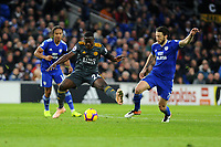 Nampalys Mendy of Leicester City vies for possession with Harry Arter of Cardiff City during the Premier League match between Cardiff City and Leicester City at Cardiff City Stadium in Cardiff, Wales, UK. Saturday 3rd November 2018