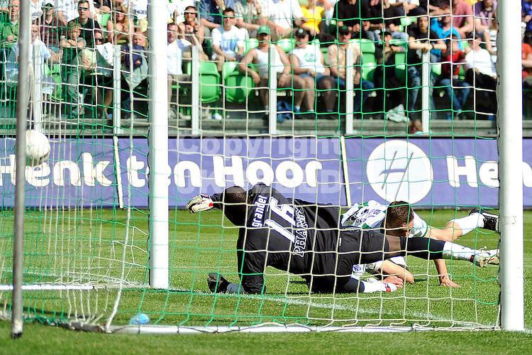 voetbal fc groningen - fc utrecht play off eredivisie seizoen 2007-2008 04-05-2008  sjvedik scoort 2-1.. fotograaf Jan Kanning