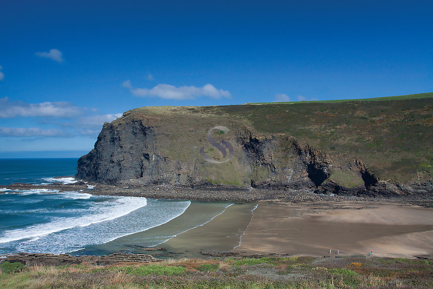 Pencannow Point from Crackington Haven, Cornwall
