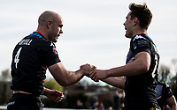 Adrian Purtell of the London Broncos celebrates his second half try during the Kingstone Press Championship match between London Broncos and Rochdale Hornets at Castle Bar , West Ealing , England  on 26 March 2017. Photo by Steve Ball / PRiME Media Images.
