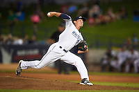 West Michigan Whitecaps relief pitcher Drew Smith (12) during a game against the Burlington Bees on July 25, 2016 at Fifth Third Ballpark in Grand Rapids, Michigan.  West Michigan defeated Burlington 4-3.  (Mike Janes/Four Seam Images)