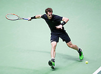 Februari 11, 2015, Netherlands, Rotterdam, Ahoy, ABN AMRO World Tennis Tournament, Andy Murray (GBR) in his match against Nicolas Mahut (FRA)<br /> Photo: Tennisimages/Henk Koster