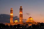 Gubbrat Bahia Mosque at sunset. Oman.
