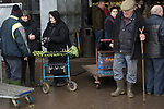 Rural poverty people at a Christmas market and turkey auction. Norfolk. Uk 2018. Fabian Eagle Auctions.