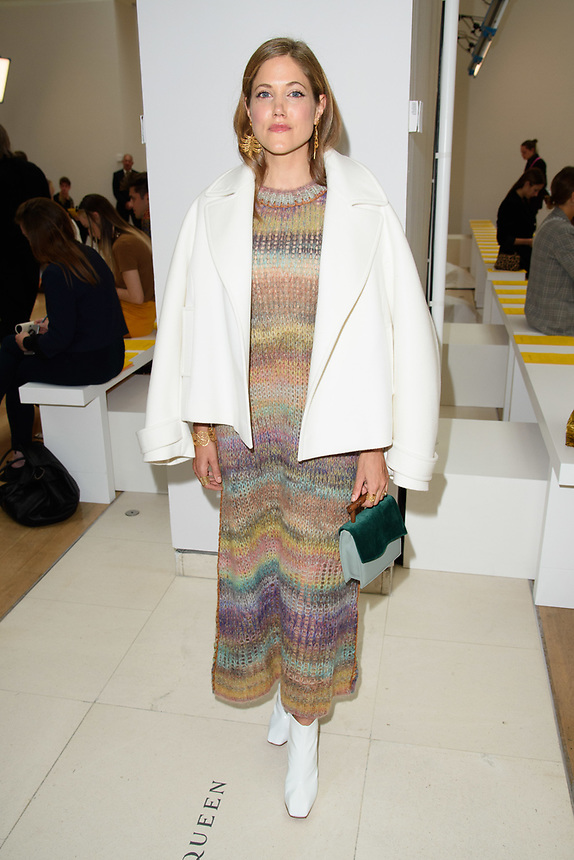 Charity Wakefield<br /> front row at the Jasper Conran London Fashion Week SS18 catwalk show, London<br /> <br /> ©Ash Knotek  D3431  15/09/2018