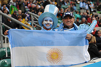 Argentinian fans during the Semi Final of the Rugby World Cup 2015 between Argentina and Australia - 25/10/2015 - Twickenham Stadium, London<br /> Mandatory Credit: Rob Munro/Stewart Communications