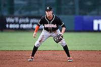 Jupiter Hammerheads third baseman Brian Anderson (9) during a game against the Bradenton Marauders on April 18, 2015 at McKechnie Field in Bradenton, Florida.  Bradenton defeated Jupiter 4-1.  (Mike Janes/Four Seam Images)