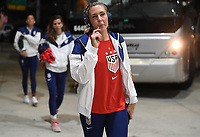 JACKSONVILLE, FL - NOVEMBER 10: Allie Long #20 of the United States inters the stadium during a game between Costa Rica and USWNT at TIAA Bank Field on November 10, 2019 in Jacksonville, Florida.