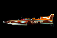 """1/6 scale RC model of 1955 """"Miss Thriftway"""". Hydroplane And Raceboat Museum, Kent, WA."""