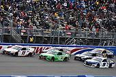 #11: Denny Hamlin, Joe Gibbs Racing, Toyota Camry FedEx Office, #18: Kyle Busch, Joe Gibbs Racing, Toyota Camry Interstate Batteries and #9: Chase Elliott, Hendrick Motorsports, Chevrolet Camaro NAPA Auto Parts