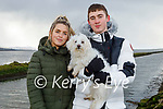Enjoying a stroll in Lohercanon on Sunday, l to r: Shauna Dowling and Kiernan Ball with Molly the dog