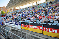 Uefa Women 's Champions League Final 2010 at  Coliseum Alfonso Perez in Getafe , Madrid : Olympique Lyon - Turbine Potsdam : German supporters.foto DAVID CATRY / Vrouwenteam.be