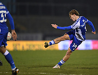 9th January 2021; Memorial Stadium, Bristol, England; English FA Cup Football, Bristol Rovers versus Sheffield United; Luke McCormick of Bristol Rovers takes a shot on goal
