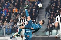 il secondo gol di Cristiano Ronaldo Real. Goal celebration.<br /> Cristiano Ronaldo scores the second goal . <br /> Torino 03-04-2018 Stadium Champions League 2017/2018 Round of 8 Juventus - Real Madrid Foto Andrea Staccioli / Insidefoto