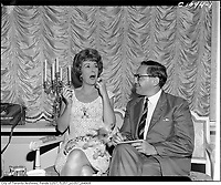 Circa 1955 file photo - Gypsy Rose-Lee (L) and Frank Rasky (R)