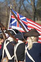 Revolutionary War Reenactors, George Washington's Continental Army, Washington Crossing State Park, New Jersey
