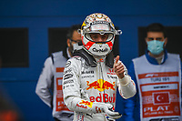 10th October 2021; Formula 1 Turkish Grand Prix 2021 Race Day Istanbul Park Circuit, Istanbul, Turkey;  VERSTAPPEN Max nld, Red Bull Racing Honda RB16B celebrating his second place in the race