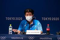 210718 18th July 2021, Tokyo, Japan; Hidemasa Nakamura, Tokyo 2020 Main Operations Centre Chief, attends a press conference, PK, Pressekonferenz at the Main Press Center MPC