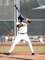 Darren Ford / San Francisco Giants 2008 Instructional League..Photo by:  Bill Mitchell/Four Seam Images