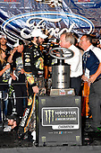 Monster Energy NASCAR Cup Series<br /> Ford EcoBoost 400<br /> Homestead-Miami Speedway, Homestead, FL USA<br /> Sunday 19 November 2017<br /> Martin Truex Jr, Furniture Row Racing, Bass Pro Shops / Tracker Boats Toyota Camry wins the 2017 Monster Energy Cup Series Championship<br /> World Copyright: Rusty Jarrett<br /> LAT Images