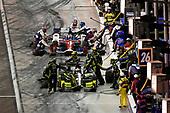 Verizon IndyCar Series<br /> Desert Diamond West Valley Phoenix Grand Prix<br /> Phoenix Raceway, Avondale, AZ USA<br /> Saturday 29 April 2017<br /> Charlie Kimball, Chip Ganassi Racing Teams Honda pit stop<br /> World Copyright: Scott R LePage<br /> LAT Images