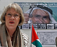 """Gaza.15.05.2008.Ms. Karen Abu Zayd Commissioner General of UNRWA in the Palestinian territories celebrate ythe anniversary of Nakba 60 in Gaza on May 15, 2008""""photo by Fady Adwan"""""""