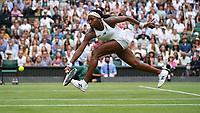 3rd July 2021; Wimbledon, SW London. England; Wimbledon Tennis Championships, day 6;  Coco Gauff , USA *** 2021 Wimbledon Championships Coco Gauff , USA