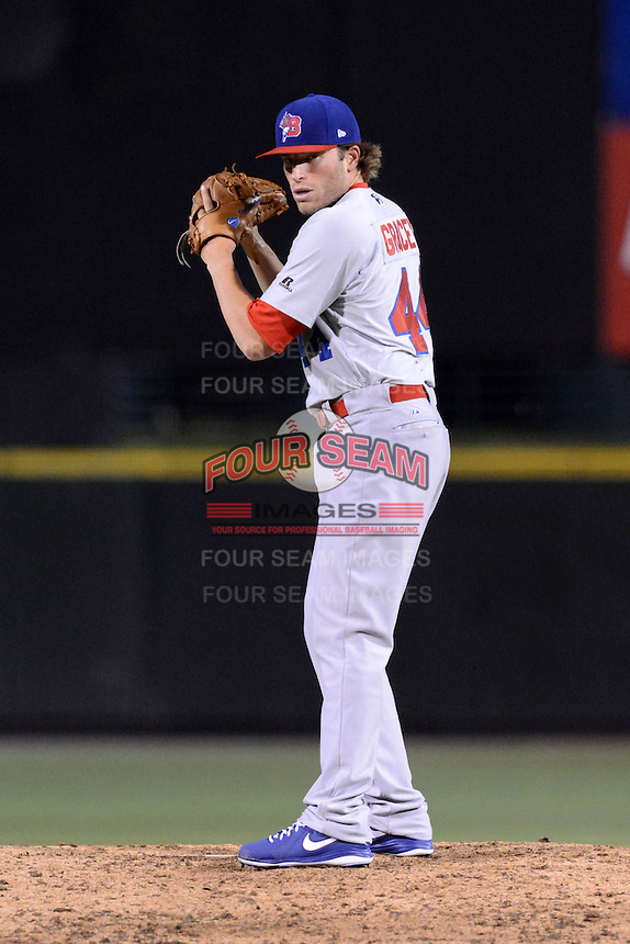 Buffalo Bisons pitcher Scott Gracey (44) during a game against the Rochester Red Wings on August 30, 2013 at Frontier Field in Rochester, New York.  Buffalo defeated Rochester 6-3.  (Mike Janes/Four Seam Images)