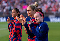 EAST HARTFORD, CT - JULY 5: Rose Lavelle #16 of the USWNT waves to the crowd during a game between Mexico and USWNT at Rentschler Field on July 5, 2021 in East Hartford, Connecticut.