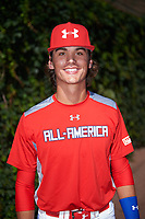 Blaze Alexander (21) of Bishop Verot High School in Cape Coral, Florida poses for a photo before the Under Armour All-American Game presented by Baseball Factory on July 29, 2017 at Wrigley Field in Chicago, Illinois.  (Mike Janes/Four Seam Images)
