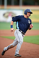 Charlotte Stone Crabs center fielder Thomas Milone (22) running the bases during a game against the Palm Beach Cardinals on July 22, 2017 at Roger Dean Stadium in Palm Beach, Florida.  Charlotte defeated Palm Beach 5-2.  (Mike Janes/Four Seam Images)